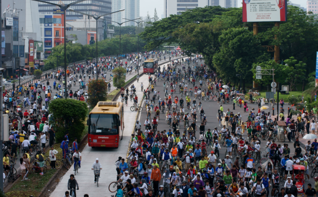 Indonesia Jakarta Car Free Day Sunday.png