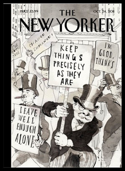 new yorker cover page- one percent