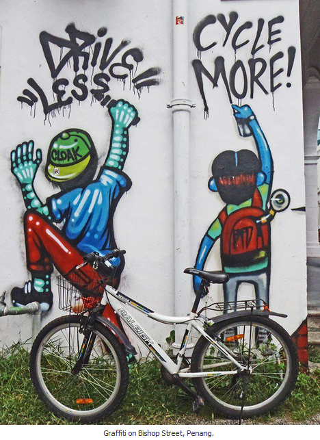 Penang bike graffiti