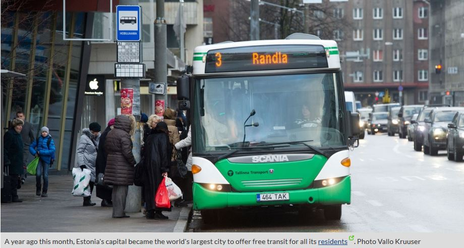Zero Fare Public Transport in Tallinn shows a way (1/4)