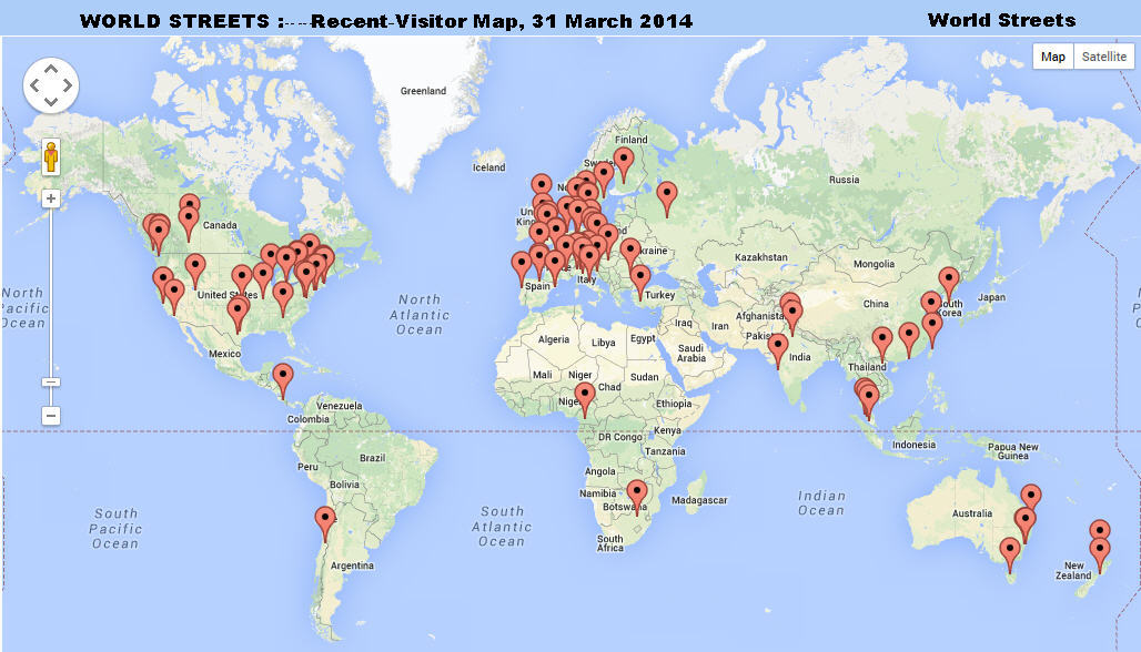 Street World Map.State Of World Streets 2009 2014 World Streets The Politics Of