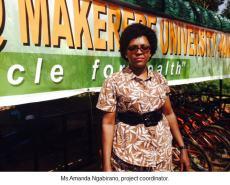 uganda.kampala-Ms Amanda Ngabirano, project coordinator.