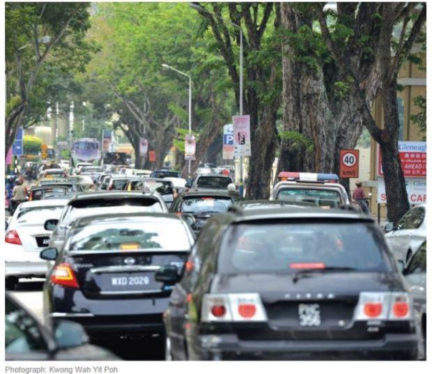 malaysia penang heavy teaffic
