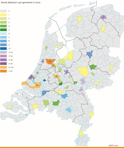 netherlands carshare map 2002
