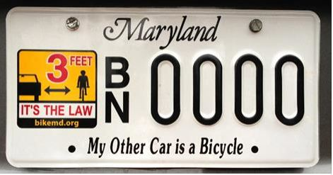 USA - licence plate other car bike