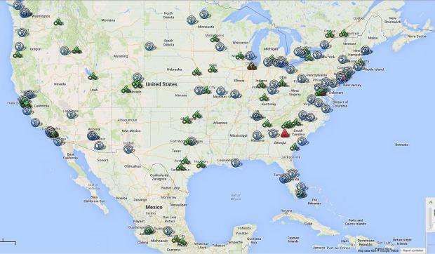 map north america shared bikes