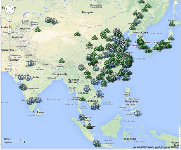 world bike map Paul demaio Asia 5aug14