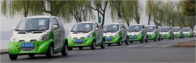 China - Kandi carshare vehicles - large