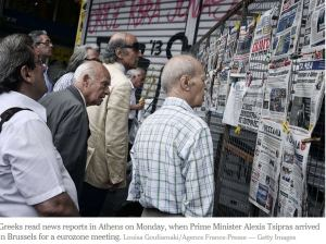 greek crisis eading newspapers