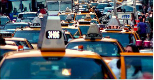 NYC taxi jam