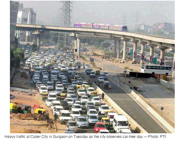 India Gurgaon, Car Free Day