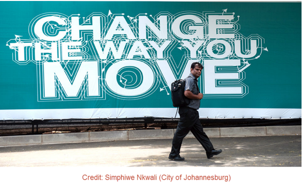 South Africa Joburg big sign change the way you move
