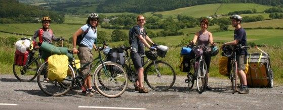 bicycle touring group