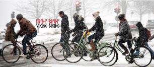 Denmark Copenhagen winteer cycling