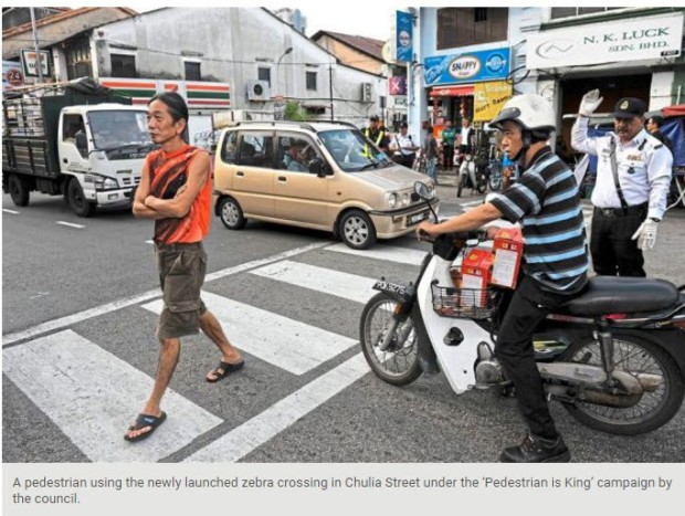 Penang pedestrian is king