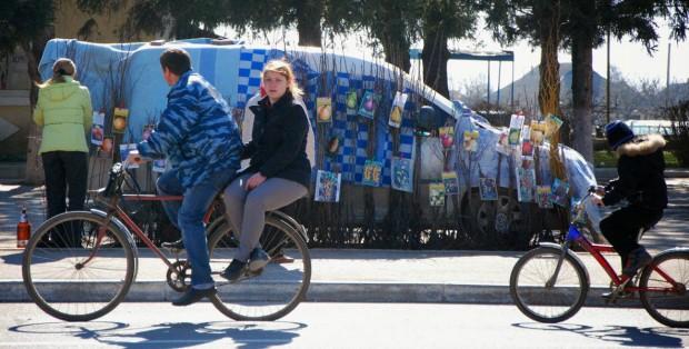 Cycling in Cosnita Moldova