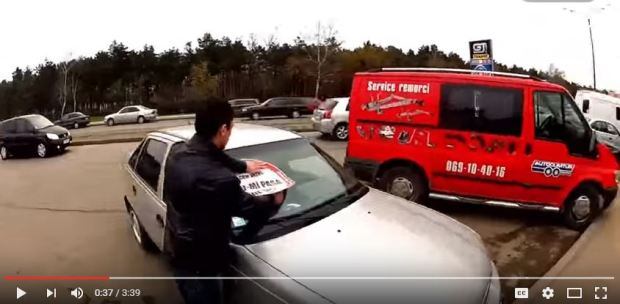 Moldova Chisinau  activists illegally parked cars 2