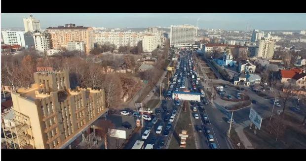 Moldova Chisinau traffic jam