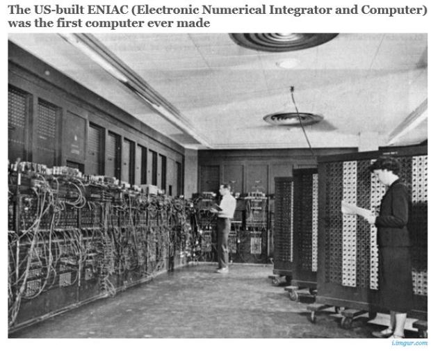 usa eniac COMPUTER year.