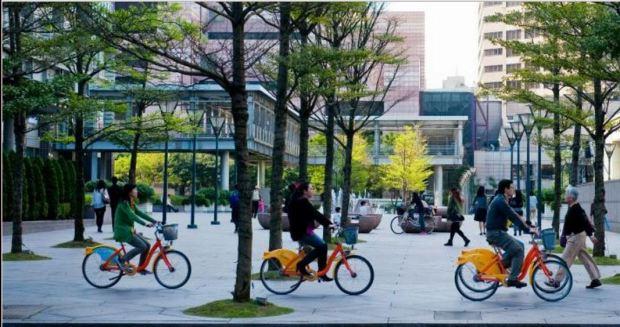Veloo city taiwan 2016 pretty bikes in square