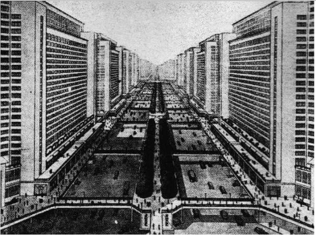 Le Corbusier plan for Paris