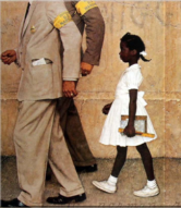 little black girl with police