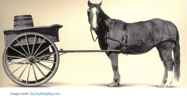 horse before cart - simple