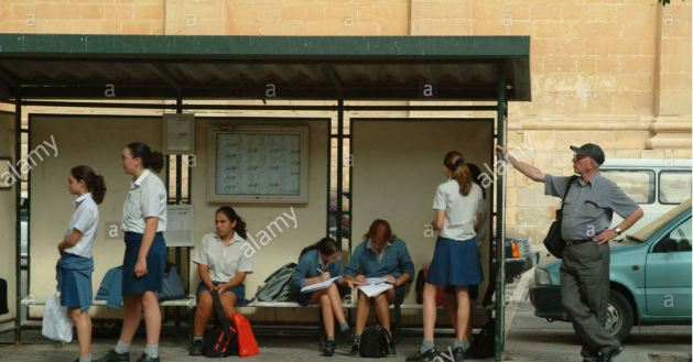 malta-students-girlss-waiting-bus-stop