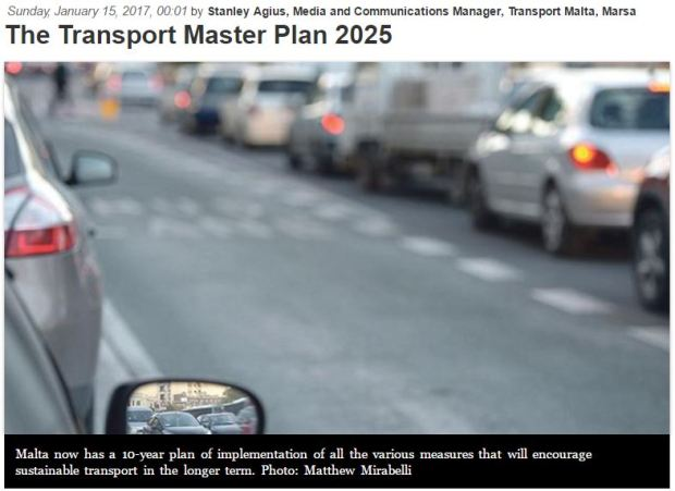 malta-transport-master-plan-car-on-street