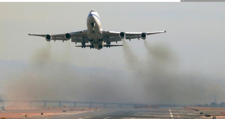 airplan taking off polution - photo dsleeter_2000