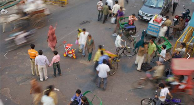 India - street scene - Decade of Action for Road Safety
