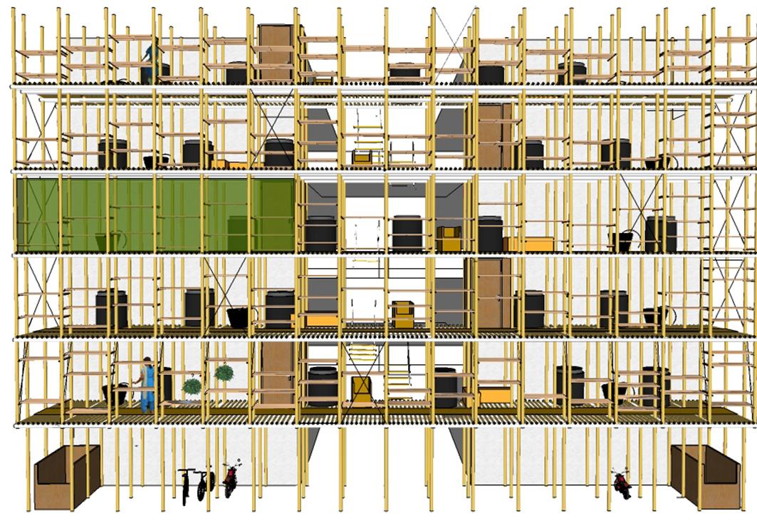 Vertical kitchen garden @ Henrik Valeur, 2014