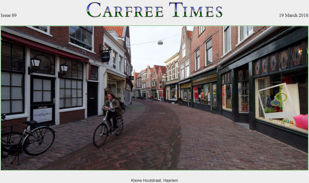 Carfree times - cover photo Issue 89 march 2018