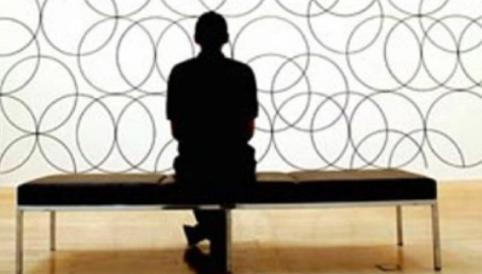 circles man sitting watching