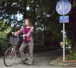 Mari Jussi on bike