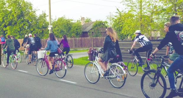 Tallinn Estonia city cyclists