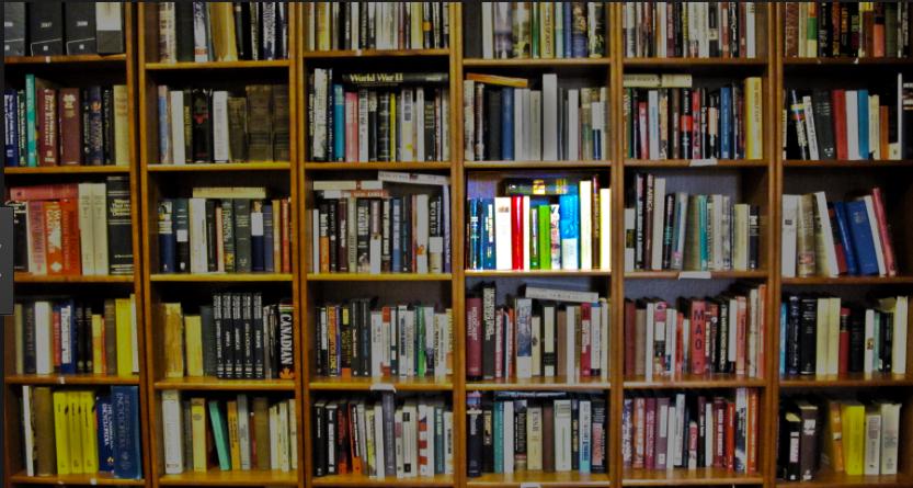 library shelf books highlight