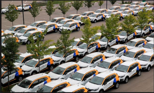 Moscow car share fleet