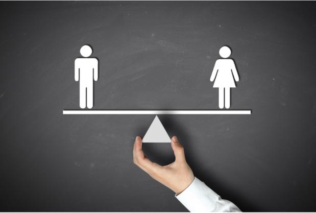 Gender parity board hand