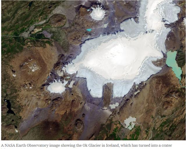 Iceland glacier OK melted